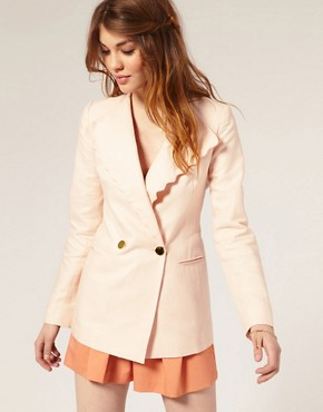 Nishe Scalloped Trim Blazer from us.asos.com