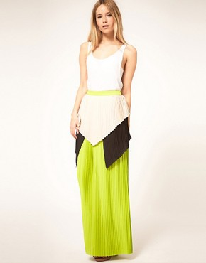 Image 1 of&#160;Cameo Nomad Skirt with Colour Block Layered Pleats