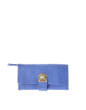 Image 1 of ASOS Leather Tuck Lock Purse