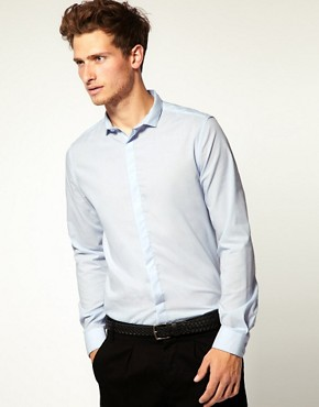 ASOS Slim Fit Cutaway Collar Shirt