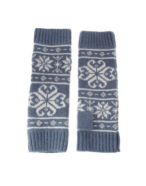 Alice Hannah | Alice Hannah Fairisle Armwarmers at ASOS :  armwarmers knit