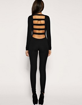 ASOS - Long Sleeve Slash Back Unitard :  asos asos long sleeve slash back unitard unitard one piece