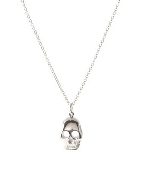 Alex and Chloe Sterling Silver Skull Necklace