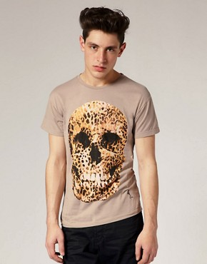 Religion Leopard Print Skull T-Shirt