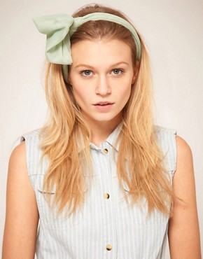 Image 1 of ASOS Mint Knot Headband