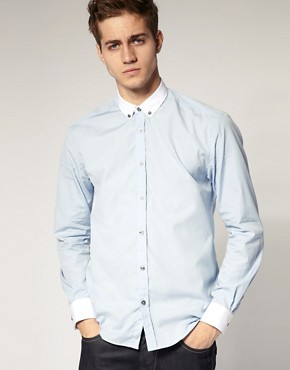 Selected Cool Contrast Collar Shirt