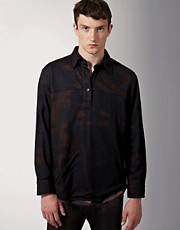 James Long Double Layer Printed Overshirt