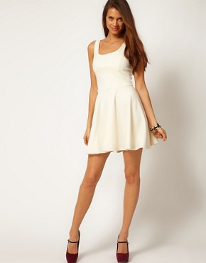 Image 4 of ASOS Skater Dress with Bow Back
