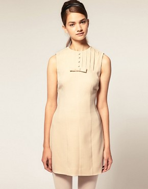 Image 1 of ASOS Shift Dress with Pleat