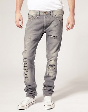 Image 1 of Diesel Thanaz 8S2 Slim Fit Jean :
