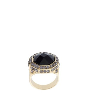 Image 1 of ASOS Vintage Style Rhinestone Encrusted Cocktail Ring