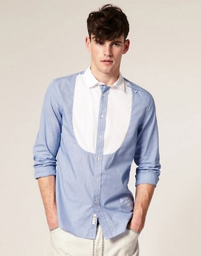 Diesel Sonty Contrast Bib Front Shirt