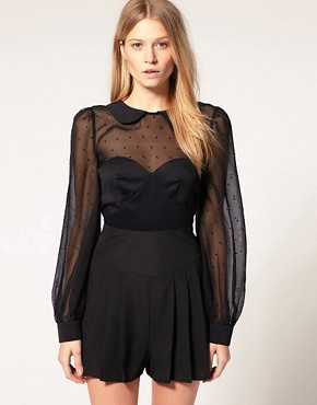 Image 1 of ASOS Jeweled Playsuit