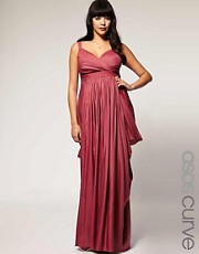 ASOS Curve Exclusive Maxi Dress With Drape Sides