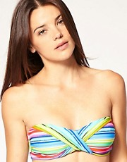 buy Seafolly Stripe Bikini X Front Bandeau Top by Seafolly in swimsuits shop