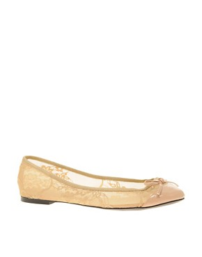 Image 1 ofASOS LACE Ballet Shoes with Bow