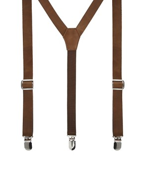 ASOS Tan Leather Look Braces