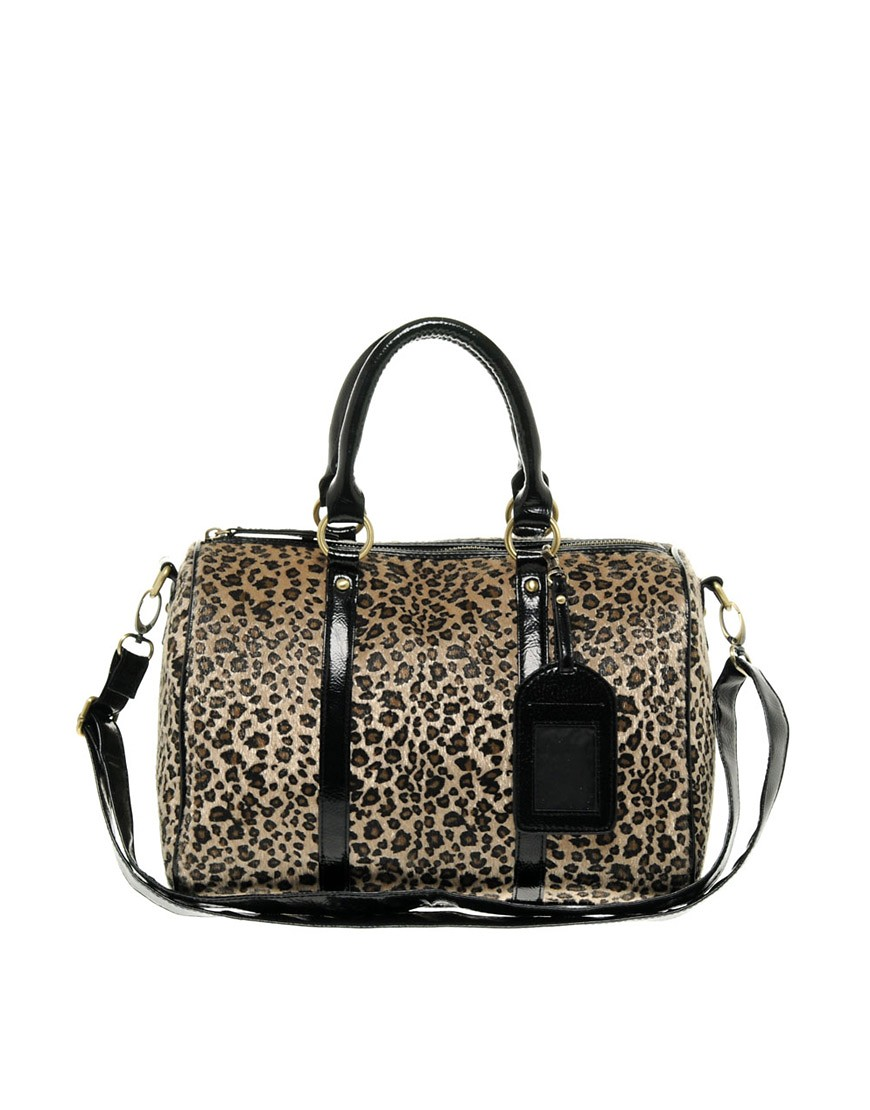 ASOS Leopard Print Bowler Bag :  handbag accessories accessory bowler bag