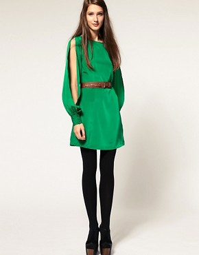 Image 4 of&#160;ASOS Slash Back Dress with Split Sleeve