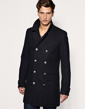 ASOS Double Breasted Military Coat