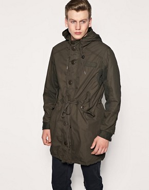 Firetrap Load Long Parka Jacket