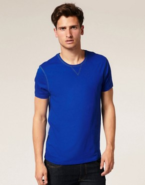 ASOS Crew Neck T-Shirt With Contrast Stitching Detail