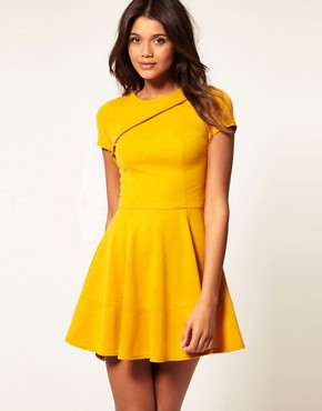 Image 1 of ASOS Dress with Zip Back