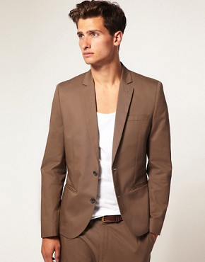 ASOS Khaki Carrot Fit Suit