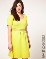 ASOS CURVE Skater Dress With Crochet