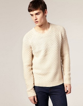ASOS Textured Crew Jumper