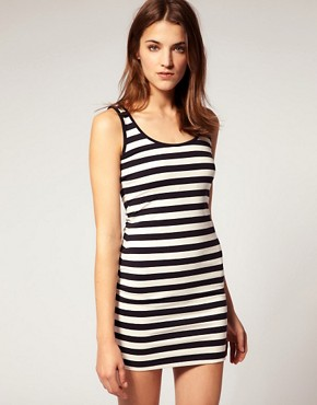 Warehouse - Stripe Tank Dress :  dresses stripes warehouse stripe tank dress striped mini dress