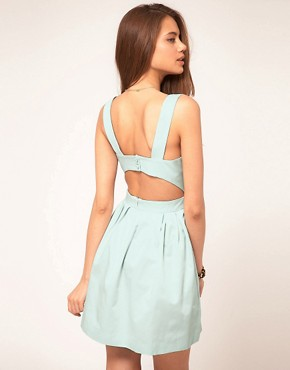Image 1 of&#160;ASOS Skater Dress with Cut Out Back