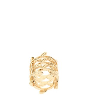 Image 1 of ASOS Triple Row Fine Leaves Ring