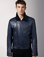 James Long Leather Biker Jacket