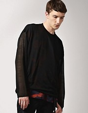 James Long Double Layer Printed Long Sleeve T-Shirt
