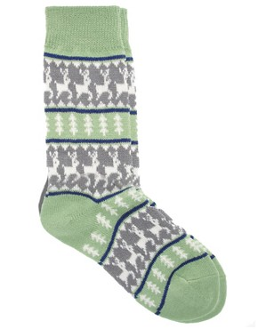 Image 3 of ASOS Deer Fairisle Socks