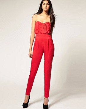 Image 1 of ASOS Pleated Bust Jumpsuit