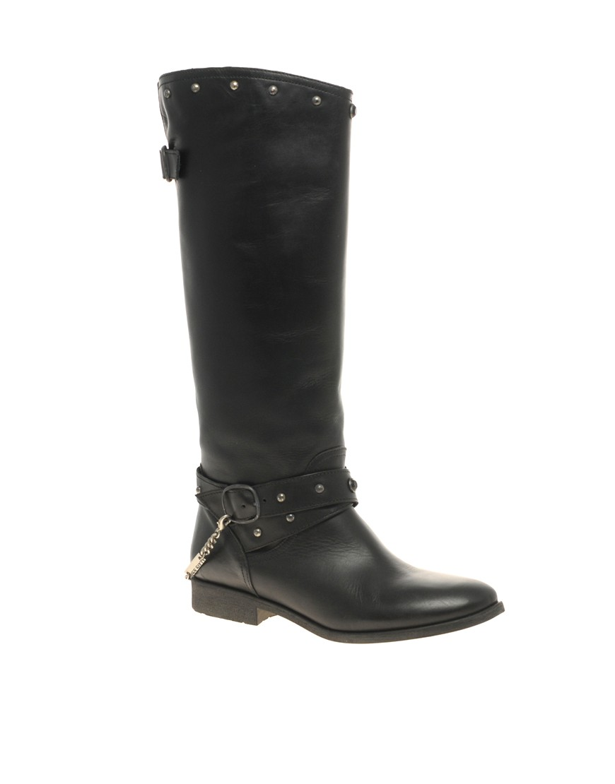 Miss Sixty - Knee High Biker Boots from us.asos.com