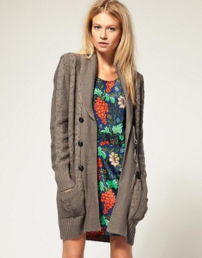 Image 1 of Vero Moda Toggle Button Detail Shawl Collar Cardigan
