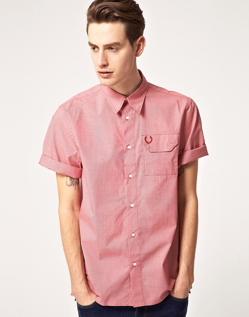 Camisa de cuadros de pata de gallo de Fred Perry Laurel Wreath