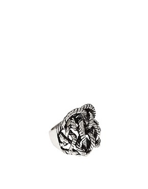 Image 1 of ASOS Woven Knot Ring