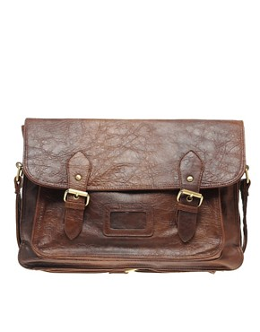 ASOS Satchel with Retro Double Buckle