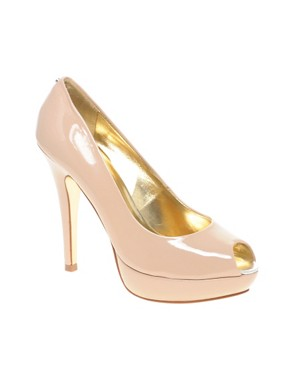 Ted Baker - Svana Peeptoe Platform Court :  high heels leather pumps shoes womens shoes