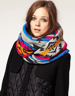 Image 1 of&#160;ASOS Bright Intarsia Knit Snood