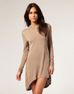 Lightweight Drapey Hoodie Lounge Dress :  chic dress fall lounge