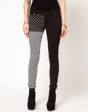 Image 1 of Tripp NYC Jeans with Split Leg Stars N Stripes