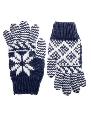 ASOS Chunky Fairisle Gloves