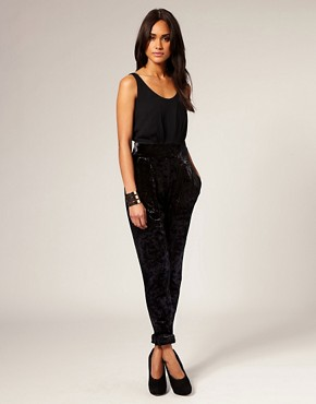 ASOS Tailored 2 in 1 Velvet Peg Jumpsuit :  asos asos tailored 2 in 1 velvet peg jumpsuit jumpsuit one piece