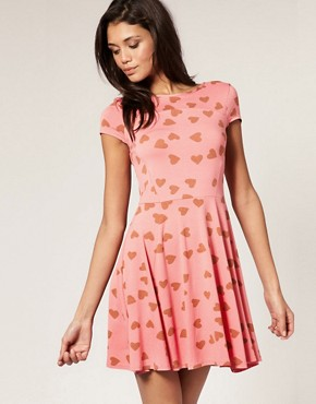 Image 1 of ASOS Heart Print Dress