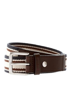 Fred Perry Webbing And Leather Belt